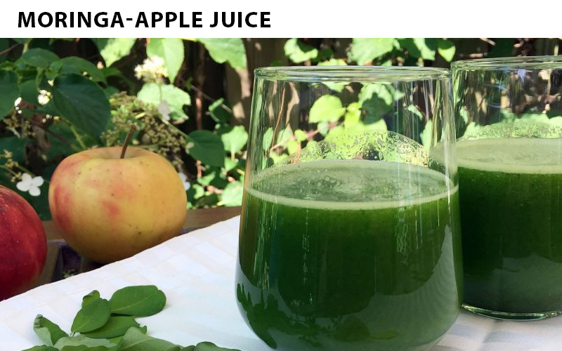 TRY MORINGA AND APPLE JUICE