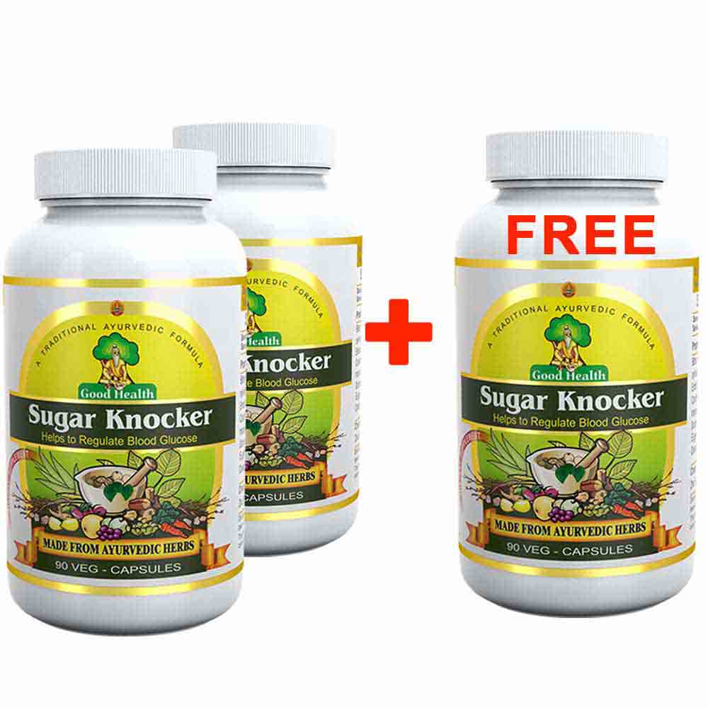 Sugar Knocker 2+1 Pack with Moringa Supplement