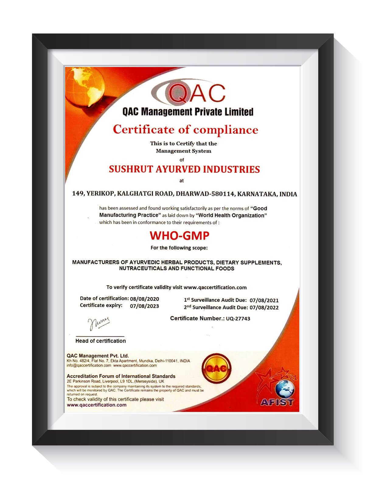 WHO-GMP Certified Manufacturer of Ayurvedic Herbal Products for Diabetes
